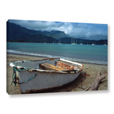 Brushstone Waiting to Row in Hanalei Bay Gallery Wrapped Canvas