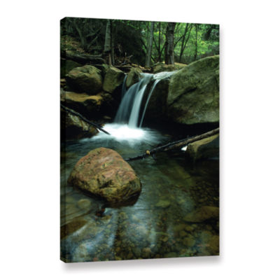 Brushstone Waterfall In The Woods Gallery WrappedCanvas Wall Art
