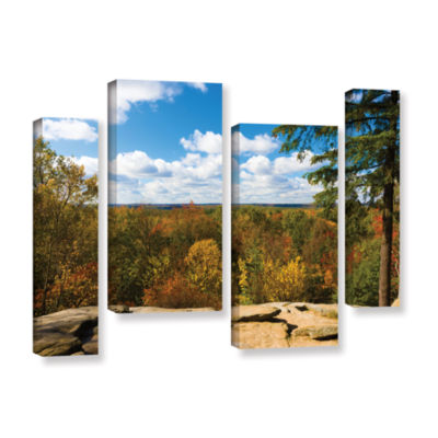 Brushstone Virginia Kendall 4-pc. Gallery WrappedCanvas Staggered Set