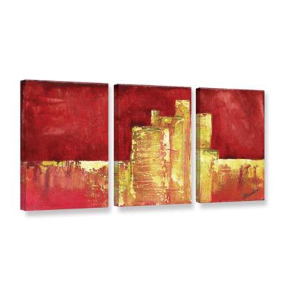 Brushstone Urban Renewal I 3-pc. Gallery Wrapped Canvas Set