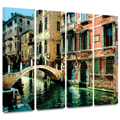 Brushstone Venice Canal 4-pc. Gallery Wrapped Canvas Wall Art