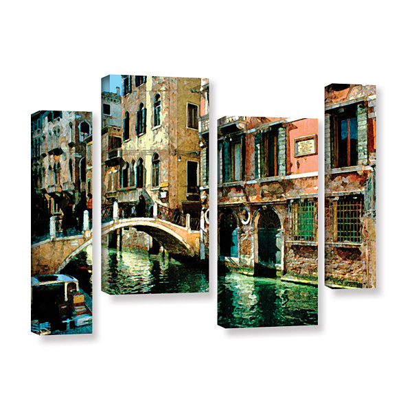 Brushstone Venice Canal 4-pc. Gallery Wrapped Staggered Canvas Wall Art
