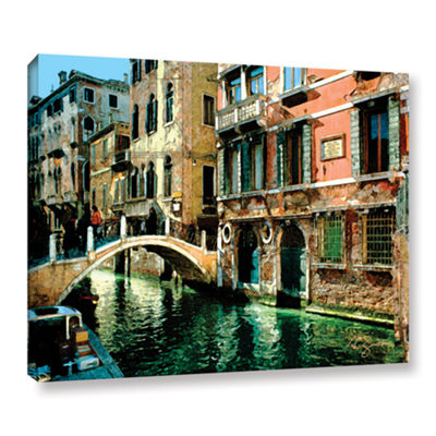 Brushstone Venice Canal Gallery Wrapped Canvas Wall Art