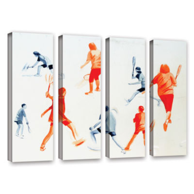 Brushstone Swuahs Players 4-pc. Gallery Wrapped Canvas Wall Art