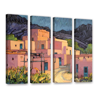 Brushstone Taos Pueblo 4-pc. Gallery Wrapped Canvas Wall Art