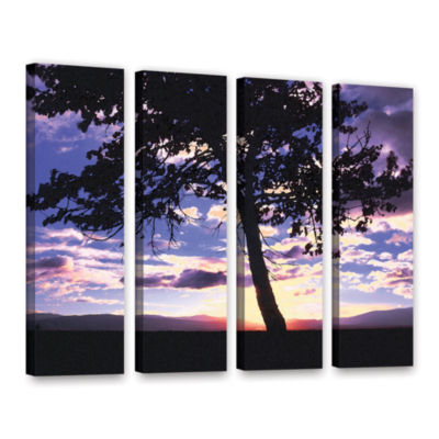 Brushstone Teton Meadow Sunrise 4-pc. Gallery Wrapped Canvas Wall Art