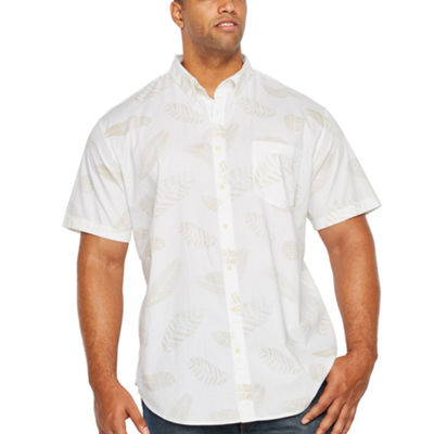 The Foundry Big & Tall Supply Co. Short Sleeve Floral Button-Front Shirt-Big and Tall