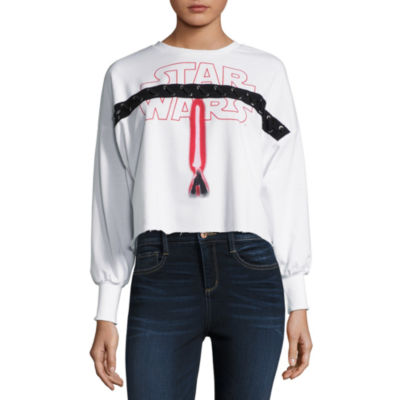 Star Wars Cropped Sweatshirt-Juniors