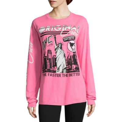 City Streets Oversized Long Sleeve Crew Neck Graphic T-Shirt