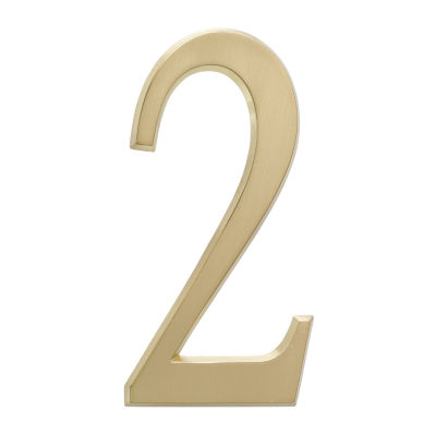 "Whitehall  4.75"" Satin Brass Numbers"