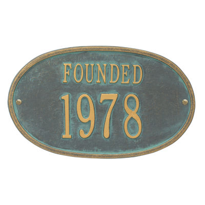 Whitehall Founded Date Personalized Plaque