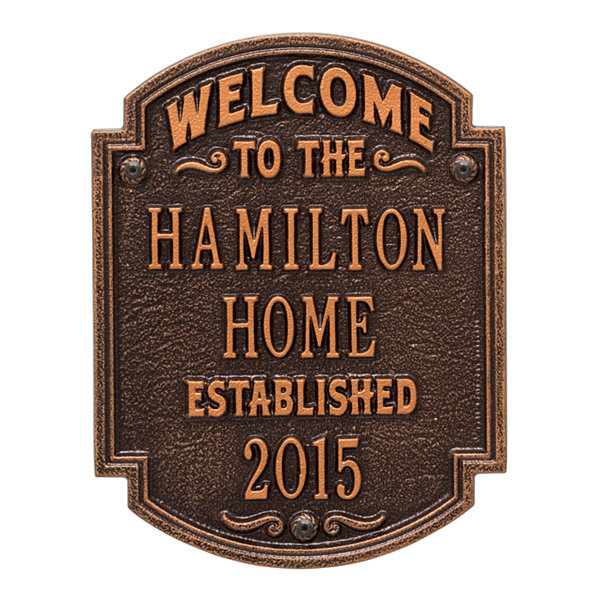 Whitehall Heritage Welcome Anniversary Personalized Plaque