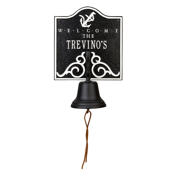Whitehall Anchor Bell Welcome Personalized Plaque