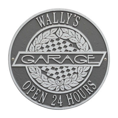 Whitehall Victory Lane Garage Plaque - Standard Wall Two Line