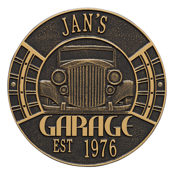 Whitehall Vintage Car Garage Plaque - Standard Wall Two Line
