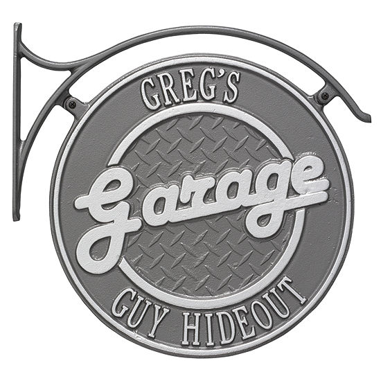 Whitehall Package: Hanging Garage Plaque with Bracket