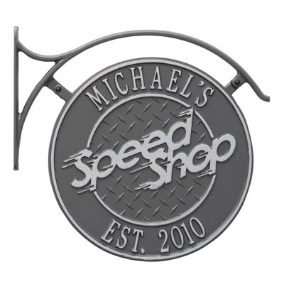 Whitehall Package: Hanging Speed Shop Plaque withBracket
