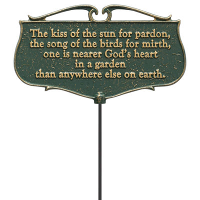 Whitehall The Kiss of the Sun Garden Poem Sign