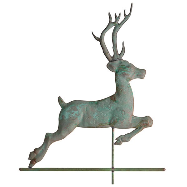 Whitehall Copper Deer Weathervane - Polished Weatherwave