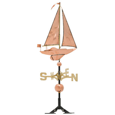 Whitehall Copper Sailboat Weathervane