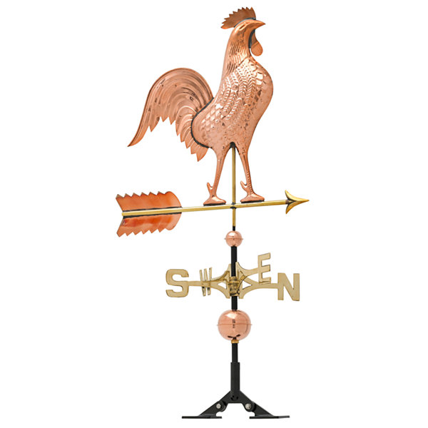 Whitehall Copper Rooster Weathervane
