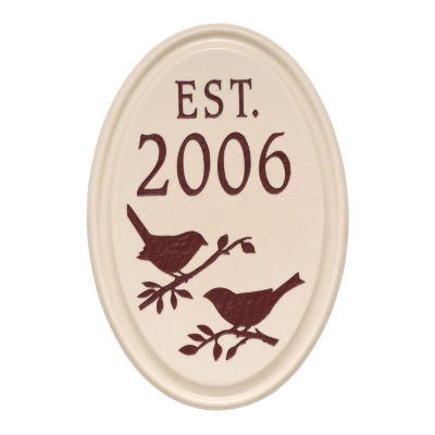 Whitehall Bird Established Ceramic Personalized Plaque