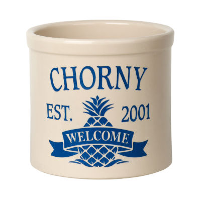 Whitehall Personalized Pineapple Established Welcome 2 Gallon Crock