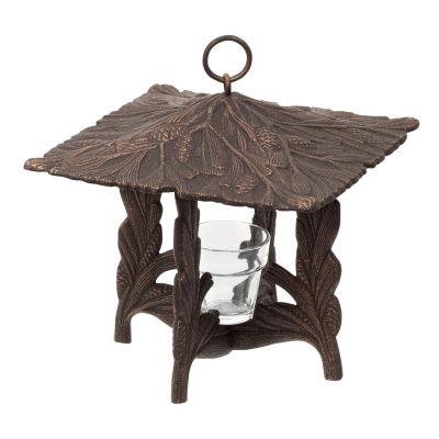Whitehall Pinecone Twilight Lantern - French Bronze