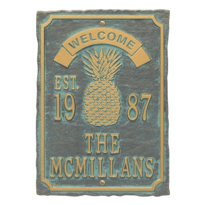 Whitehall Antebellum Welcome Anniversary Personalized Plaque