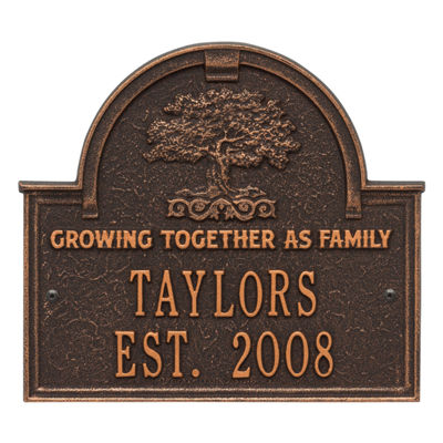 Whitehall Family Tree Anniversary Wedding Personalized Plaque