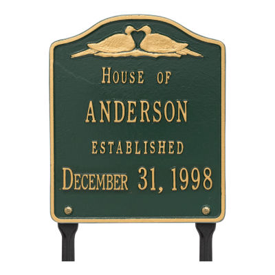 Whitehall Dove Wedding Anniversary Personalized Plaque Lawn