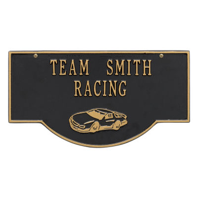 Whitehall 2-Sided Hanging Garage Racecar Plaque