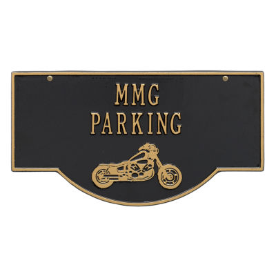 Whitehall 2-Sided Hanging Garage Motorcycle Plaque
