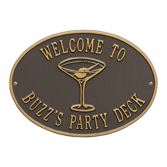 Whitehall Personalized Martini Plaque