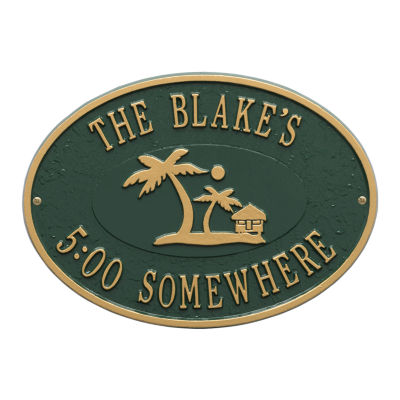 Whitehall Personalized Island Time Palm Plaque