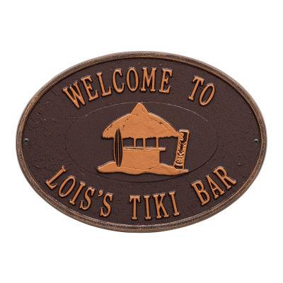 Whitehall Personalized Tiki Hut Plaque