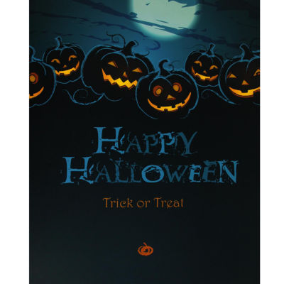 "LED Lighted Jack-O'-Lanterns Happy Halloween and Trick or Treat Canvas Wall Art 19.75"" x 23.5"""
