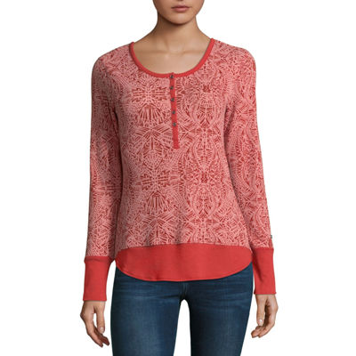 Columbia Sportswear Co. Womens Round Neck Long Sleeve Henley Shirt