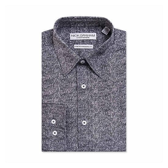 Graham And Co Long Sleeve Dress Shirt Mens Point Collar Long Sleeve Stretch Dress Shirt