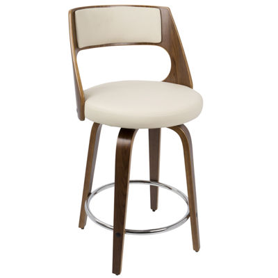 Cecina Fixed Height Mid-Century Modern Counter Stool by LumiSource
