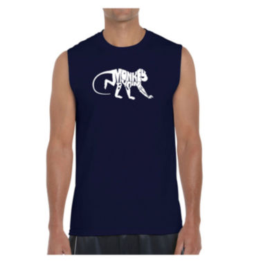Los Angeles Pop Art Men's Monkey Business Sleeveless T-Shirt - Big and Tall