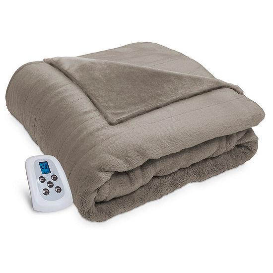 Serta Silky Plush Heated Heavyweight Electric Blanket