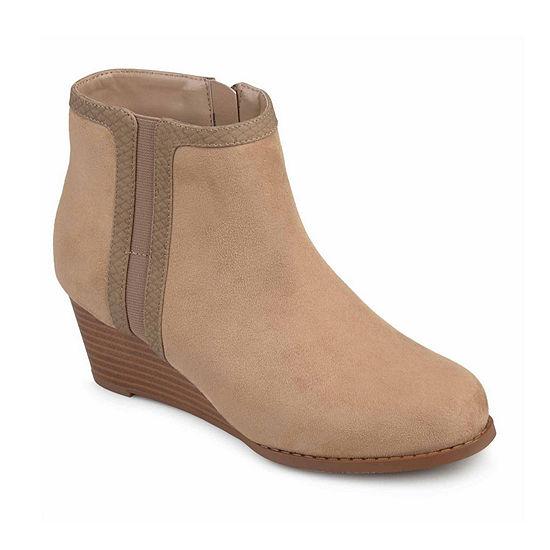 Journee Collection Womens Padme Booties Wedge Heel