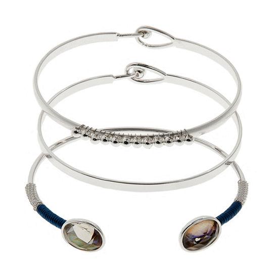 Chaps Womens 3-pc. Bracelet Set