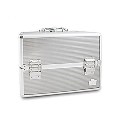 Caboodles 12 Inch Professional Medium Train Case- Silver