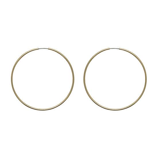 Mixit 1 Pair Copper Hoop Earrings