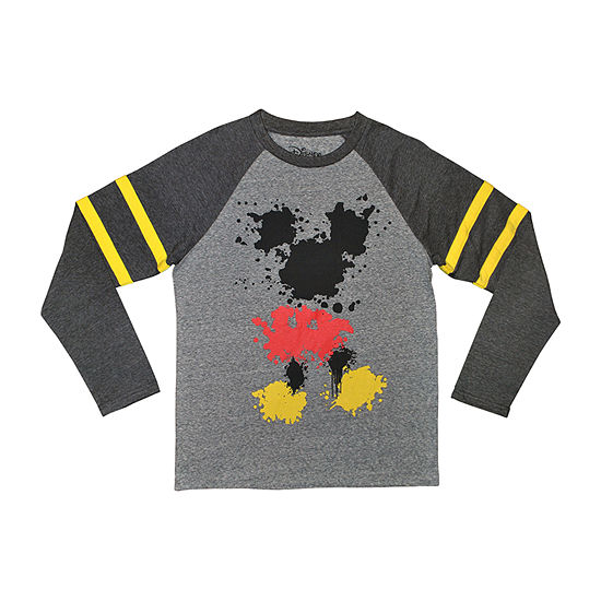 b61ab19ff Disney Boys Crew Neck Long Sleeve Mickey Mouse T-Shirt Preschool ...