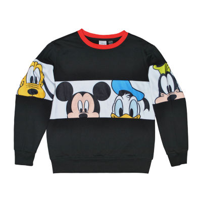 Disney Boys Crew Neck Long Sleeve Mickey and Friends T-Shirt Preschool / Big Kid