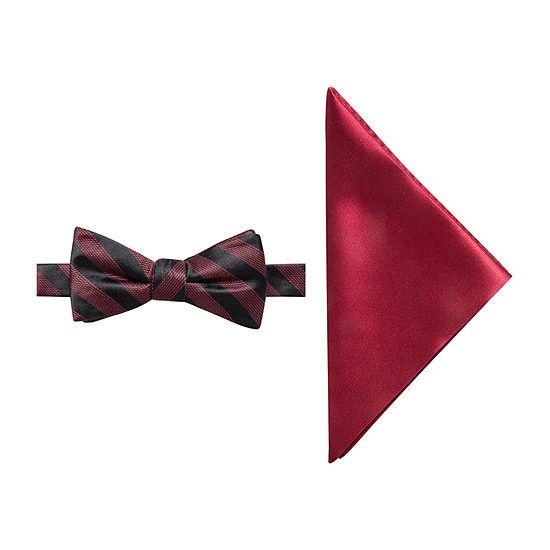 JF J.Ferrar Striped Bow Tie Set