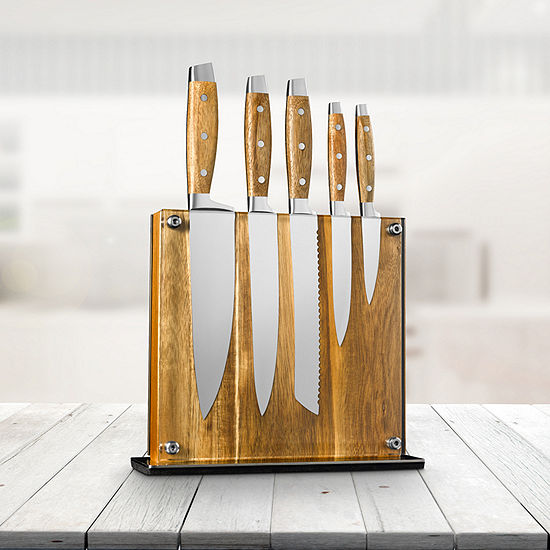 Art And Cook 6-pc. Knife Block Set
